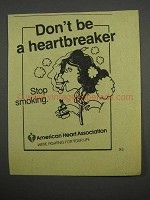 1983 American Heart Association Ad - Stop Smoking