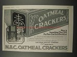 1918 National Biscuit Company Oatmeal Crackers Ad