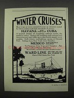 1918 Ward Line Ad - Winter Cruises