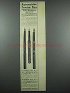 1914 Waterman's Ideal No. 15 and Ideal No.12 Pens Ad