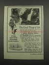 1919 Thos. Cook & Son Ad - Good Things of Life