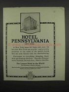 1919 Hotel Pennsylvania, New York Ad