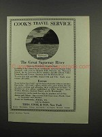1920 Thos. Cook & Son Ad - Cape Eternity Saguenay River