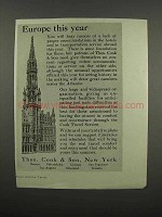 1920 Thos. Cook & Son Ad - Europe This Year