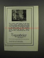 1920 The Greenbrier Resort Ad - Restful, Social Charm