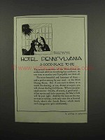 1920 Hotel Pennsylvania Ad - A Good Place to Be