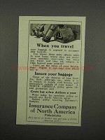 1920 Insurance Company of North America Ad - Travel