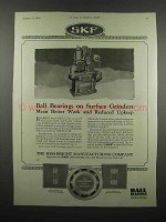 1924 SKF Ball Bearings Ad - On Surface Grinders