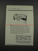 1925 Hartford Accident and Indemnity Co. Ad