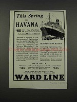 1925 Ward Line Ad - This Spring See Havana