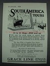 1926 Grace Line Cruise Ad - South America Tours
