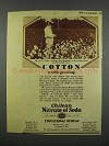 1928 Chilean Nitrate of Soda Ad - Cotton Worth Growing