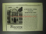 1929 Fenestra Steel School Windows Ad - Canestota High