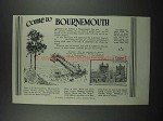 1929 Bournemouth England Ad - Come to