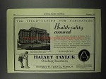 1929 Halsey Taylor Fountains Ad - Joseph Slocum College