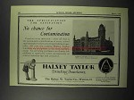1929 Halsey Taylor Fountains Ad - Yeshiva College