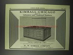1929 Kimball-Chicago Physics Laboratory Table Ad
