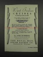 1929 The Royal Mail Steam Packet Co. Ad - West Indies
