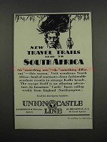 1929 Union Castle Line Ad - To South Africa
