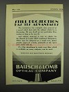 1929 Bausch & Lomb LRM Combined Balopticon Ad