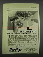 1929 DeVilbiss Spray-Painting Outfit Ad - Leadership