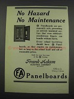 1929 frank Adam Electric Company Panelboards Ad