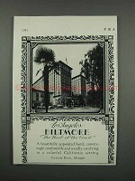 1931 Los Angeles Biltmore Hotel Ad - Host of the Coast
