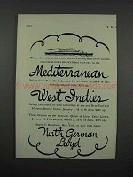 1931 North German Lloyd Cruises Ad - Swift Columbus