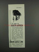 1931 Union-Castle Line Cruise Ad - Way to South Africa