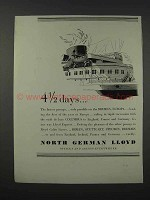 1932 North German Lloyd Cruises Ad - 4 1/2 Days
