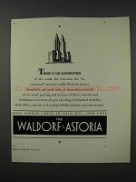 1932 The Waldorf Astoria Hotel Ad - No Suggestion