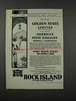 1932 Rock Island Railroad Ad - Garden of Allah
