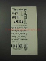 1932 Union-Castle Line Cruise Ad - To South Africa