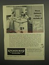 1949 Kitchen Maid Cabinets Ad - Sing Home Sweet Home