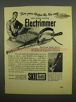 1949 Skil Electrimmer Ad - Trim Your Hedges the Fun Way