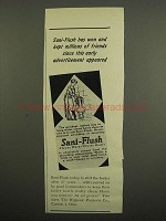 1949 Sani-Flush Cleanser Ad - Won Millions of Friends