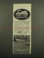 1949 Scotts Lawn Care Products Ad