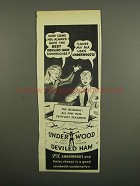 1949 Underwood Deviled Ham Ad - Always Have the Best