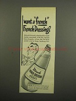 1949 Kraft Miracle French Dressing Ad