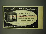 1949 General Electric Model 830 Television Ad