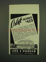 1949 Lord & Burnham Orlyt Greenhouse Ad