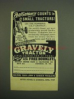 1949 Gravely Tractor Ad - Performance Counts