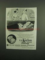 1950 U.S. Koylon Foam Cushioning Ad - Keeps Saying