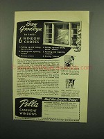 1950 Pella Casement Windows Ad - Say Goodbye
