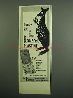 1950 Ronson Plastikit Ad - Handy Kit for Lighters