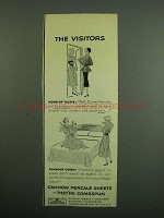 1950 Cannon Percale Sheets Ad - The Visitors