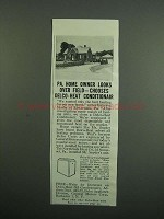 1950 Delco Heat Conditionair Ad - PA. Home Owner Looks