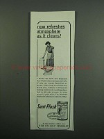 1950 Sani-Flush Cleanser Ad - Refreshes Atmosphere