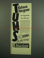 1950 Tums Medicine Ad - Relieve Hangover