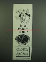 1950 Ripe Olives from California Ad - Party Time?